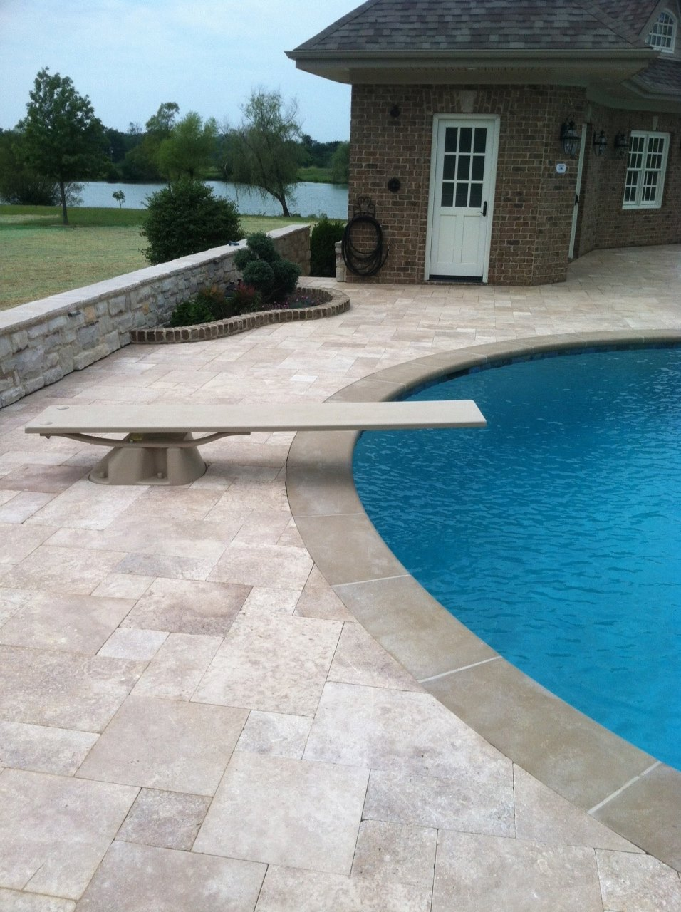 Travertine Pavers For Pool. Travertine Pool Deck