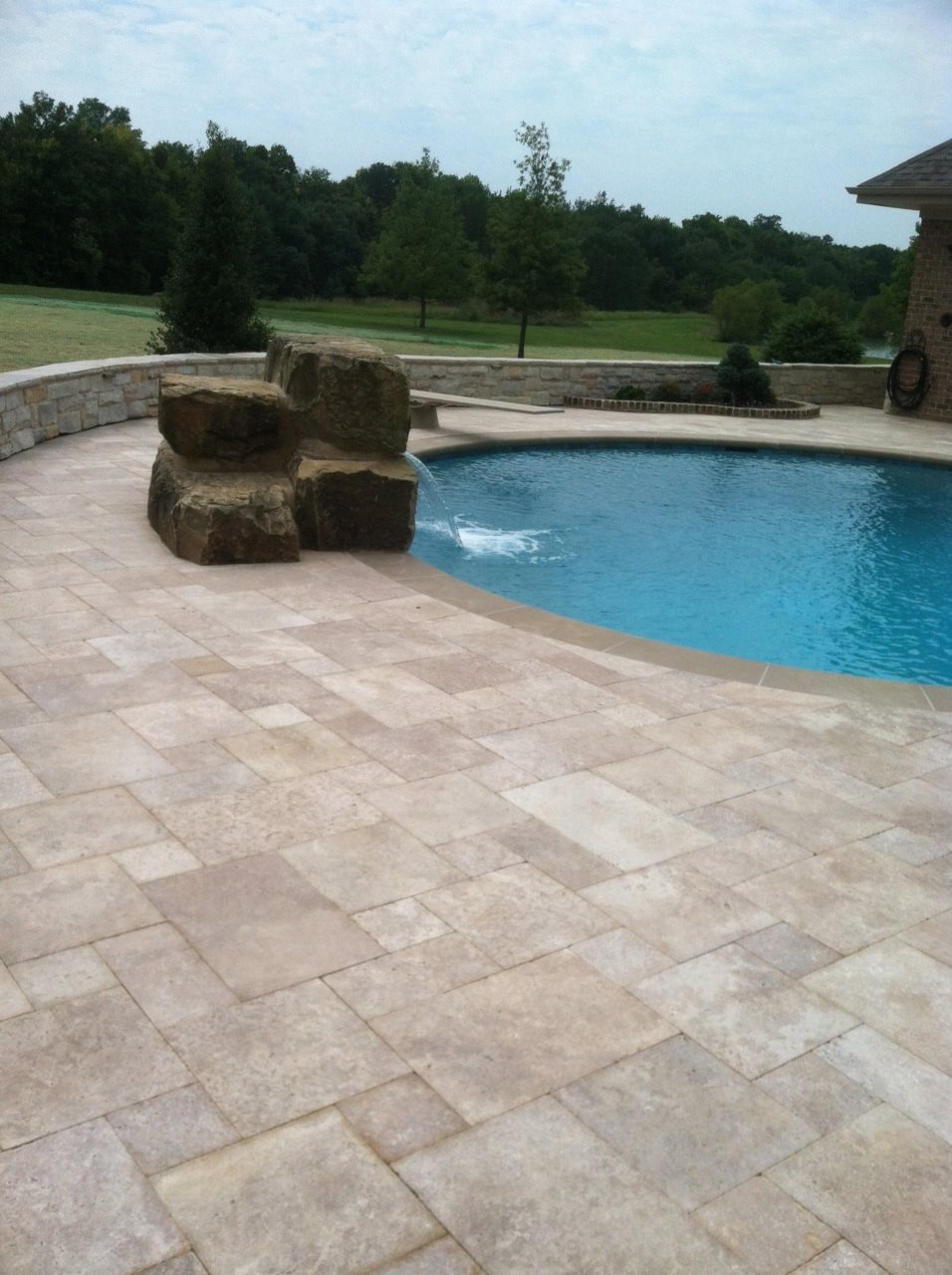 Unique 10 travertine pool deck sealer decorating design Flagstone pavers around pool