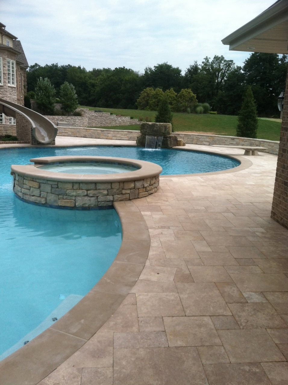 Pool Company Dayton Ohio Travertine Pavers Around