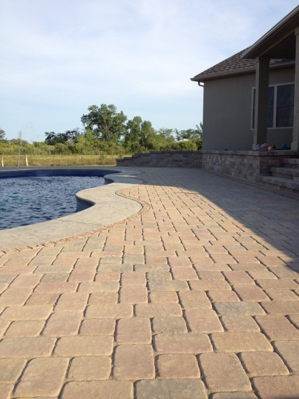 Paver Pool Deck in Dayton Ohio