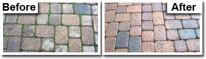 before and after pavers restoration