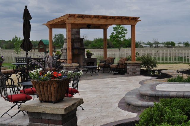 Outdoor Living Space with Pergola